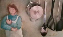 Abwaschen- trocknen- bemalen- lackieren